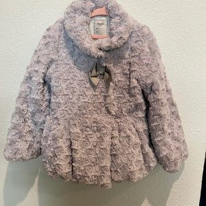 MAYORAL GREY SZ 5 GIRLS SUPER SOFT FANCY COAT